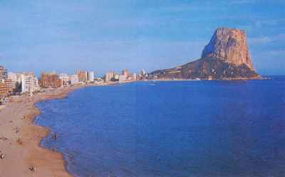 Calpe beach Costa Blanca Spain