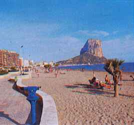 beach at Calpe Costa Blanca Spain